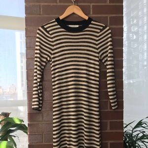 Sandro striped gold/black knit tunic- size XS or S